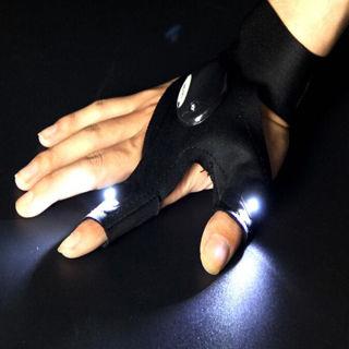 Hiking Camping Fishing Tool Glove LED Flashlight Torch