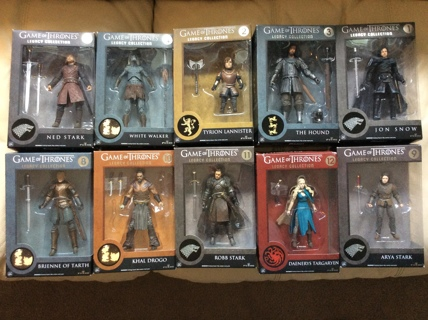 GAME OF THRONES FIGURE COLLECTION LOT OF 10 Funko Legacy Action Figures GOT