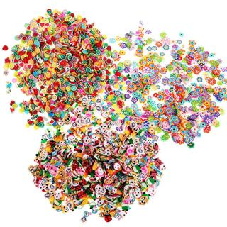 1000pcs Colorful Fimo Slice Polymer Clay Cute Nail Art Decoration DIY Stickers