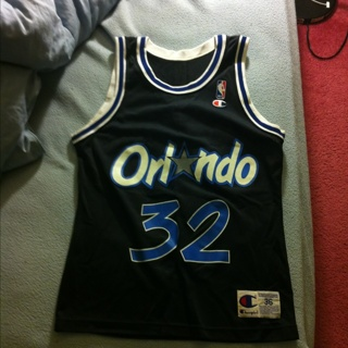 a4dfb235b5a FREE Shaquille Shaq ONeal Retro Orlando Magic NBA Basketball Jersey - Champion  Size 36 ...