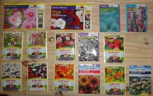 HUGE! Flower Garden lot of seeds (15 pkgs)