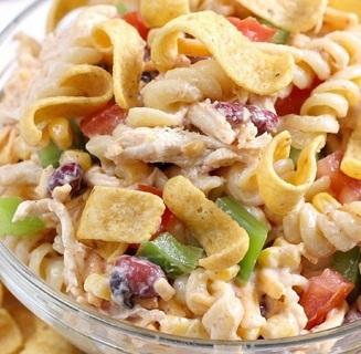 ☆(New) Fiesta Ranch Chicken Pasta Salad + Free Garlic Stick Bread Recipe ☆