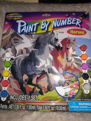 PAINT BY NUMBER (HORSES) =FREE SHIPPING