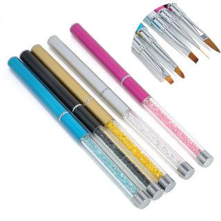 1PCS GEL & Acrylic Nail Art Tips Design Painting Dotting Liner Pen Brush Set