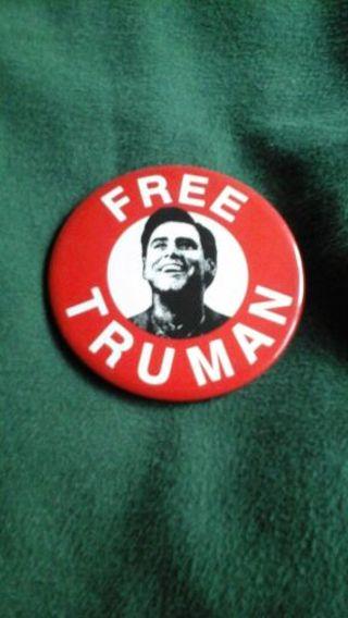 The Truman Show (Jim Carrey) movie promotional button