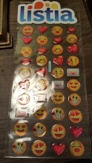 Emoji Valentine's Stickers