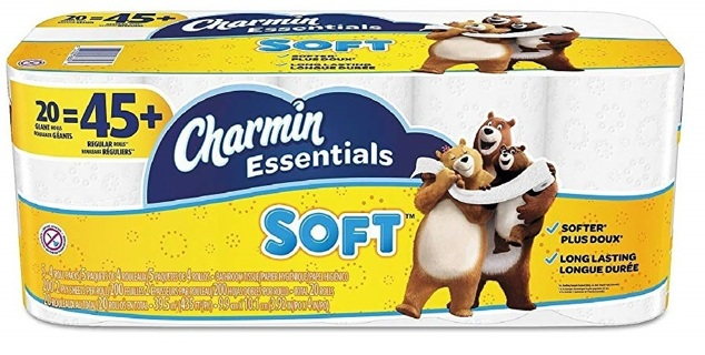 NEW Charmin Essentials Soft Toilet Paper, Giant Rolls, 20 Count FREE SHIPPING