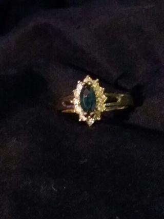 14k sapphire ring sz8