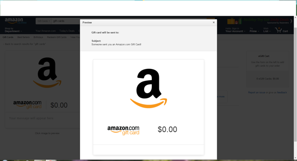 Just in time for Christmas Amazon Gift Card worth $10
