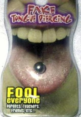 Free Fake Tongue Ring Nip Prank Gag Fake Piercing Other