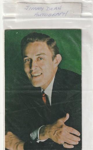 Vintage Signed/autograph Jimmy Dean Photo the Sausage Man