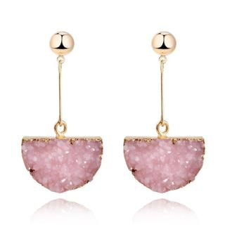 1pair Boho Resin Resina Green Earings Dangle Earrings Pendientes For Women Jewelry Gold Color Long