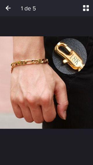 18K Gold plated Bracelet Good gift for men