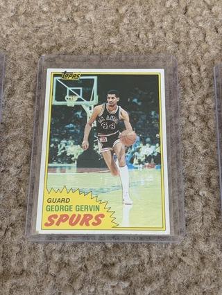 George Gervin 1981-82 Topps #37 Spurs