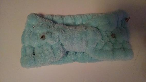 Blue Headband Soft Earwarmer Kawaii Sweet Lolita Winter Fashion Hair Accessory with Spikes