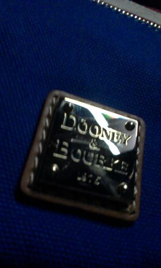 New Dooney & Bourke Red, White & Blue Nylon Triple Zip/letter carrier