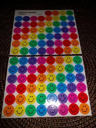 Mini smiley stickers
