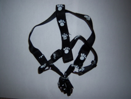 Last Harness in this Cute Paw Print Pattern With Bonus Leash