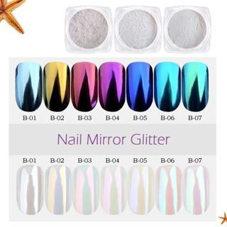 1.5g/box Seashell Chameleon Mirror Nail Powder Glitters Aurora Pearlescen Shell Nail Art Chrome Pi