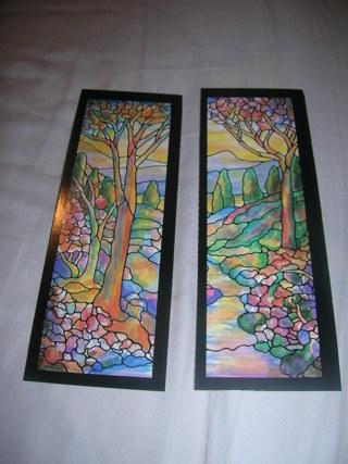 2 Tiffany Bookmarks landscaping windows