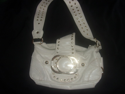 VINTAGE RETRO GENUINE GUESS Soft Leather Light Beige Small Purse