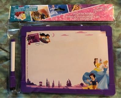 BNIP Disney PRINCESS Dry Erase Board and Marker Set
