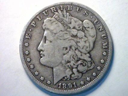 1891-O Morgan 90% Silver Dollar Coin!1