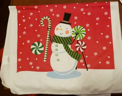 NEW - Kitchen Towel w/snowman print on both sides