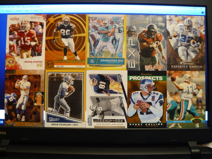 (10) Football Cards Stars, HOFers, Serial #'d or Inserts - LOT 11 - Read Details