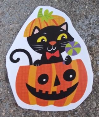 HALLOWEEN CAT JACK-O-LANTERN SPIDER BAT WINDOW CLINGS