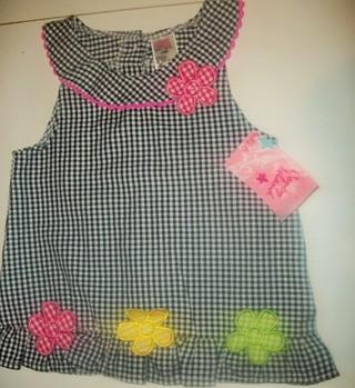 NWT Cute Black & White Checked Dress