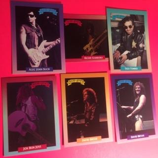 6 Bon Jovi 1991 Cards!