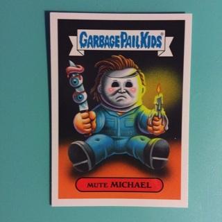 2018 Garbage Pail Kids Modern Horror Sticker Card ~ MUTE MICHAEL (14a of 15)