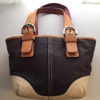 Coach Purse Handbag Brown Tan