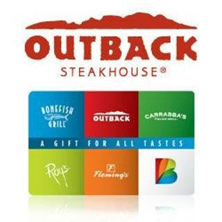 25 00 Gift Card Outback Carrabbas S Flemings Roys Or Bonefish Grill