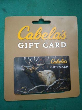 Cabela $20 gift card
