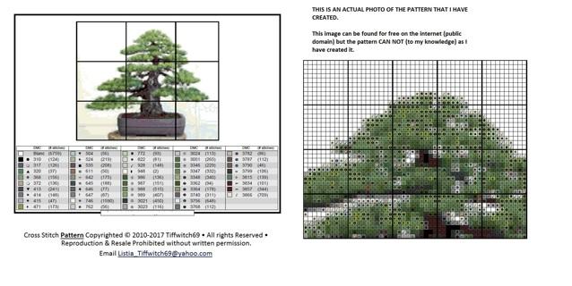 Bonsai Tree Cross Stitch Patterns ***WINNERS CHOICE***