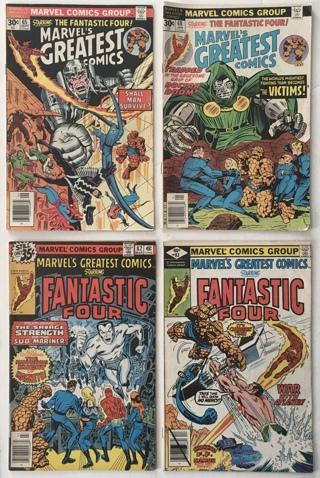Marvel's Greatest Comics Starring The Fantastic Four #s 65 68 82 83 Bronze Age Comics 1976-1979