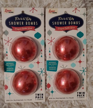 Luxe Mr. Bubble Holiday Original Shower Bombs - 2ct - 1.4oz