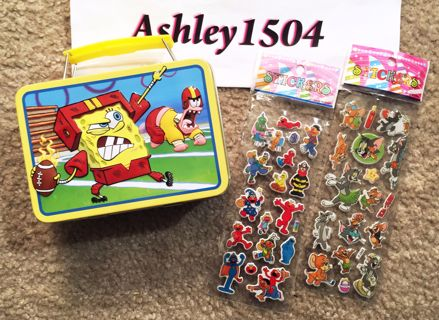 Spongebob Squarepants Hobby Toy Tin FREE Stickers