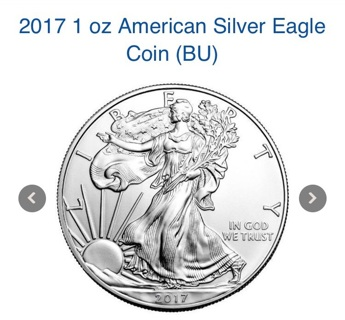 (7) 2017 silver eagles in mint condition