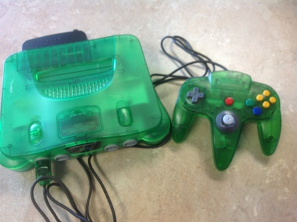 Nintendo Jungle Green System, 6 Games, Controller W/Extension Cable