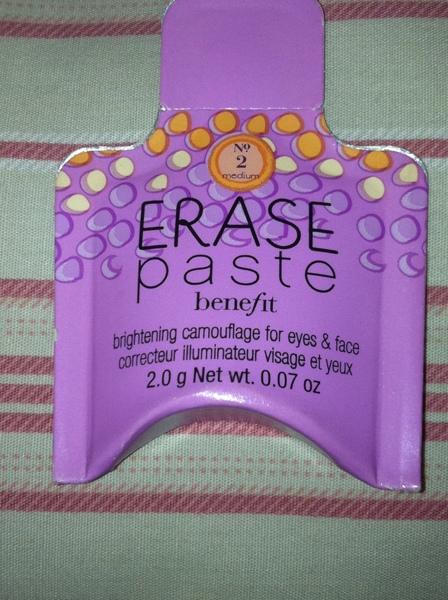 Benefit erase paste no. 2 sample packet | swapped/sold gone.