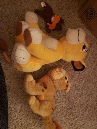 3 random plush lot lion king, ty