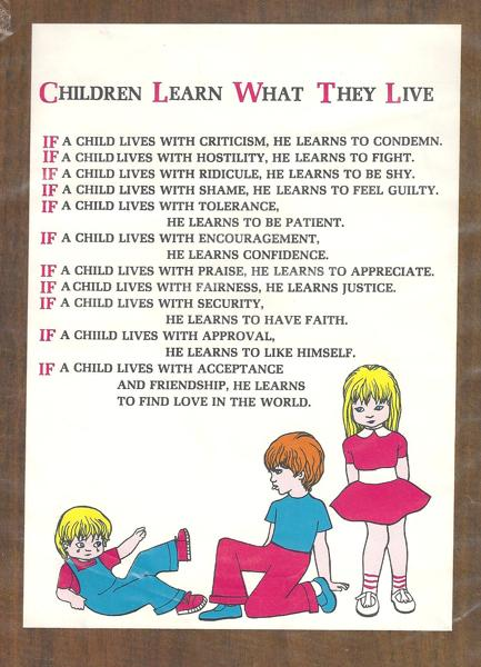 Children Learn What They Live | Psychology Today