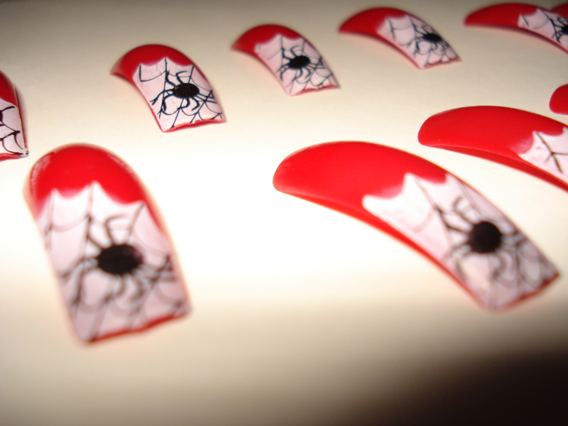 Free: New Halloween Glue-on Nails! Beautiful and Spooky ...