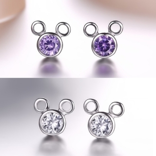 [GIN FOR FREE SHIPPING] Mouse Lovely Temperament Cartoon Zircon Earrings
