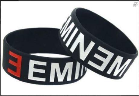 EMINEM Rap Hip Hop Bracelet Wristband Slim Shady