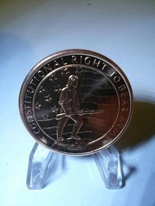 1 Oz .999 Fine Copper 2nd Amendment Coin