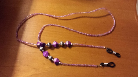 """pretty in purple ""eye glasses holder"